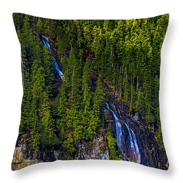 Coastal Waterfall Throw Pillow by Robert Bales
