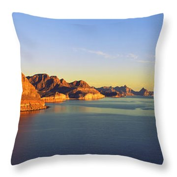 Coastline, Gulf Of California, Baja Throw Pillow