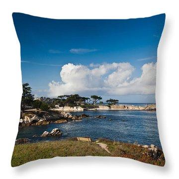 Coastline, Monterey Bay, Monterey Throw Pillow