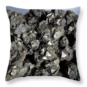 Cobaltine Mineral Throw Pillow by Spl