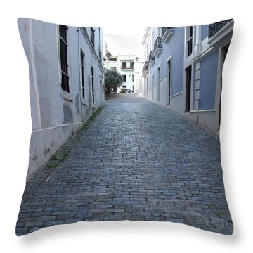 Throw Pillow featuring the photograph Cobble Street by David S Reynolds