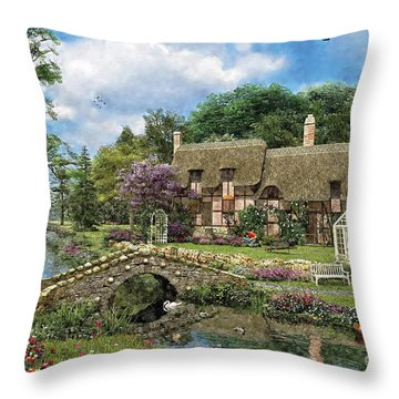 Cobble Walk Cottage Throw Pillow by Dominic Davison