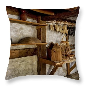 Cobblers Workshop Throw Pillow