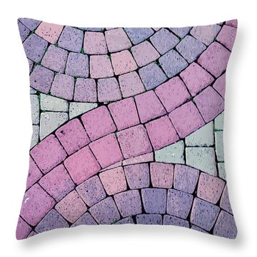 Cobblestone Abstract Throw Pillow by Art Block Collections