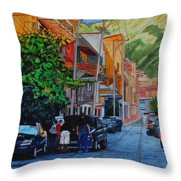 Cobblestone Breakdown Throw Pillow