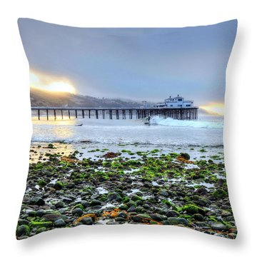 Cobblestone Sunrise At The Bu Throw Pillow