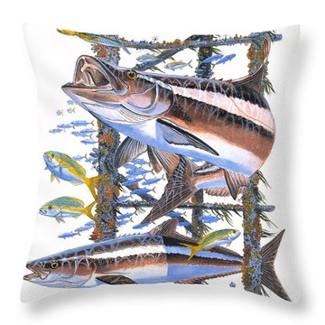 Cobia Hangout Throw Pillow by Carey Chen