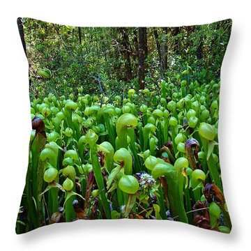 Cobra Lily Bog Throw Pillow by Nick Kloepping
