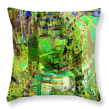 Cobwebs Of The Mind Throw Pillow