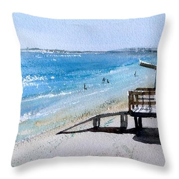 Coca Beach Throw Pillow