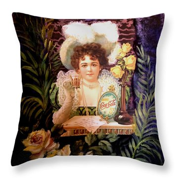 Coca Cola Advertisement 1900's Throw Pillow