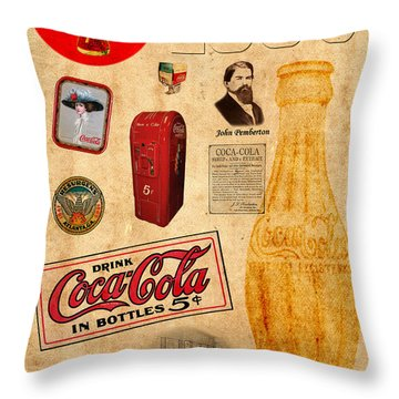 Coca Cola Throw Pillow by Andrew Fare