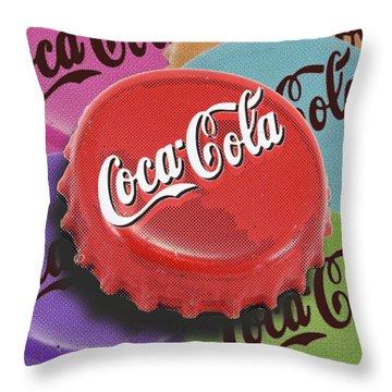 Coca-cola Cap Throw Pillow