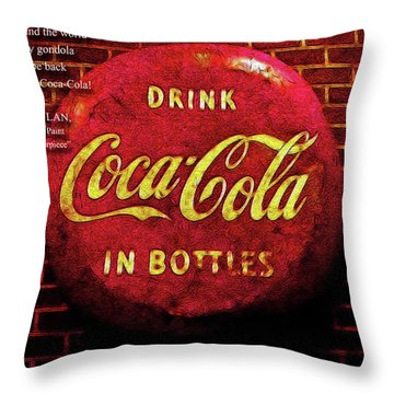 Coca Cola Dylan Quote Throw Pillow by Joan  Minchak