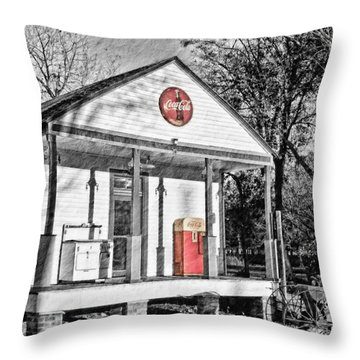 Coca Cola In The Country Throw Pillow by Scott Pellegrin