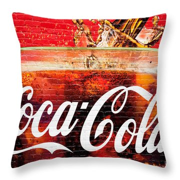 Coca Cola Throw Pillow by Luciano Mortula