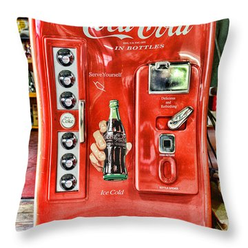 Coca-cola Retro Style Throw Pillow