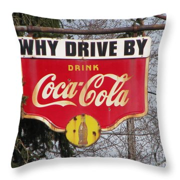 Coca-cola Sign Throw Pillow