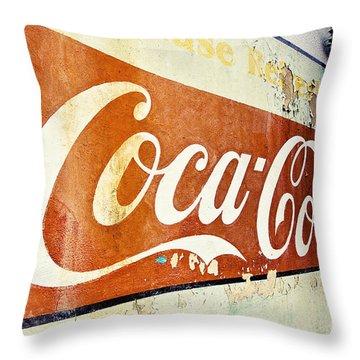 Coca Cola Sign  Throw Pillow by Scott Pellegrin