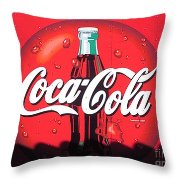 Coca Cola Sunset. Throw Pillow