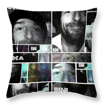 Throw Pillow featuring the photograph Coca In Part 4 Collage by Sir Josef - Social Critic - ART