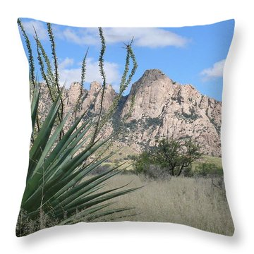 Cochise Hideout Throw Pillow
