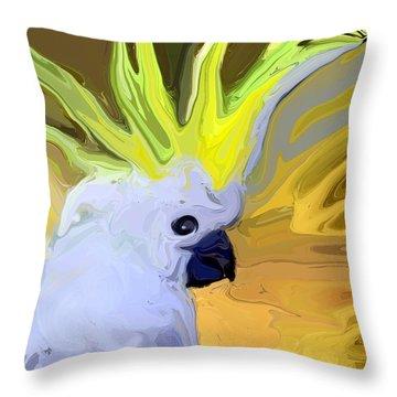 Cockatoo Throw Pillow by Chris Butler