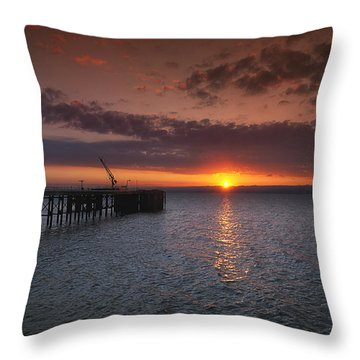 Cockenzie Sunset Throw Pillow