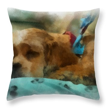 Cocker Spaniel Photo Art 06 Throw Pillow by Thomas Woolworth