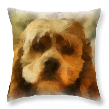 Cocker Spaniel Photo Art 03 Throw Pillow by Thomas Woolworth