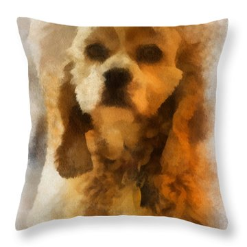 Cocker Spaniel Photo Art 04 Throw Pillow by Thomas Woolworth