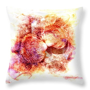 Cockle Clamshell Throw Pillow
