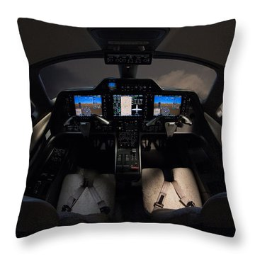 Cockpit Executive Throw Pillow