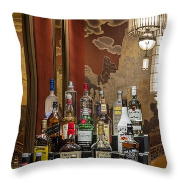 Cocktail Hour Throw Pillow by Susan Candelario