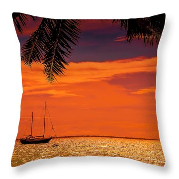 Cocktail Tropical Dream Throw Pillow by Jenny Rainbow