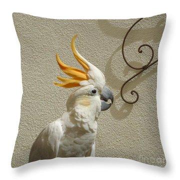 Cocky Too Throw Pillow