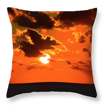 Throw Pillow featuring the photograph Coco Cay Sunset by Jennifer Wheatley Wolf