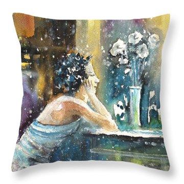 Coco Chanel Dreaming Of Igor Stravinsky Throw Pillow