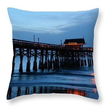 Cocoa Beach Pier At Twilight Throw Pillow