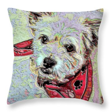 Cocoa On The Poster Throw Pillow