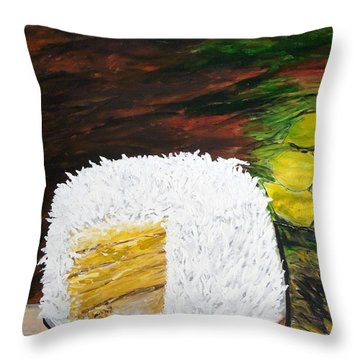Coconut Cake Throw Pillow