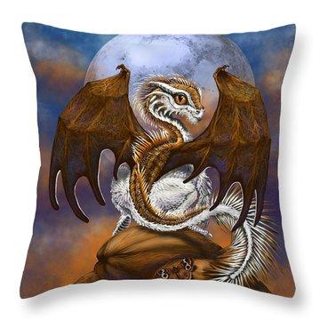 Coconut Dragon Throw Pillow
