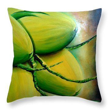 Coconut In Bloom Throw Pillow