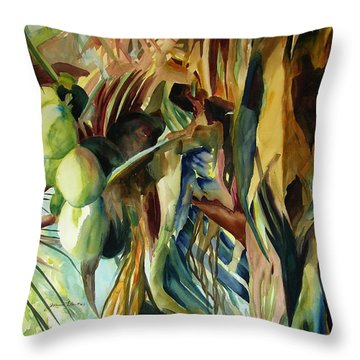 Coconuts And Palm Fronds 5-16-11 Julianne Felton Throw Pillow