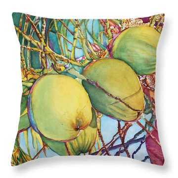 Coconuts At Sunset Throw Pillow