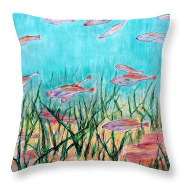 Cod In The Grass Throw Pillow