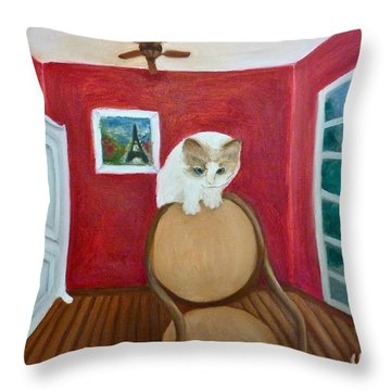 Cody Throw Pillow by Victoria Lakes