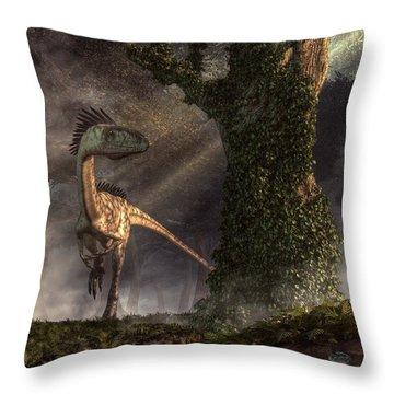 Coelophysis Throw Pillow by Daniel Eskridge