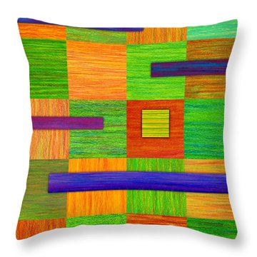 Coexist Throw Pillow by David K Small
