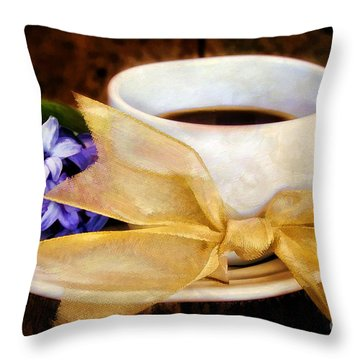 Coffee 4 One Throw Pillow by Darren Fisher